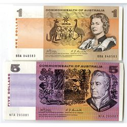 Commonwealth of Australia. 1969. Lot of 2 Issued Notes.