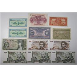 Oesterreichische Nationalbank & Allied Military Authority. 1944-1984. Lot of 22 Issued Notes.