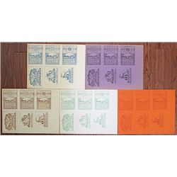 Dirnwagram & Inzersdorf. 1921. Group of 5 Notgeld Proof Uncut Sheets.