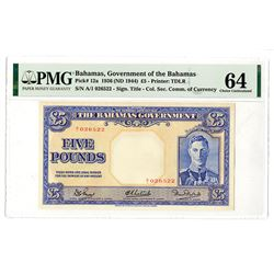 Bahamas Government. 1936 (ND 1945). Issued Banknote.
