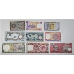 Bangladesh Bank & Bank of Biafra. 1968-2000. Lot of 9 Issued Notes.