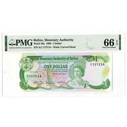 Monetary Authority of Belize, 1980 High Grade Banknote