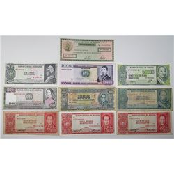 Banco Central de Bolivia & Banco de la Nacion Boliviana. 1920s-1980s. Lot of 28 Issued Notes.