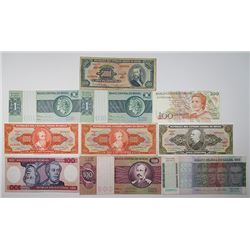 Banco Central do Brasil & Others. ND (1920s-1990s). Lot of 41 Issued Notes.