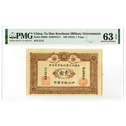 Ta Han Szechuan Military Government, ND (1912) Issued Banknote.