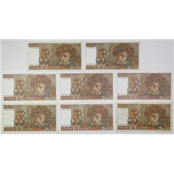 Banque de France. 1976-1978. Lot of 8 Issued Notes.