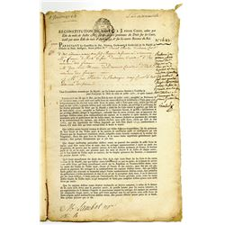 French Heredity Annuities Document from 1761 Granted by French King Louis XVI.