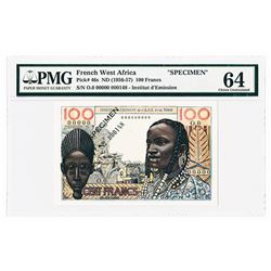 French West Africa - Togo, ND (1956-57) Specimen Banknote.