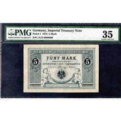 Imperial Treasury Note, Reichskassenschein, 1874 Issued Banknote Rarity.