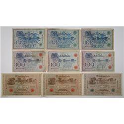 Reichsbankdirektorium. 1905-1914. Lot of 30 Issued Notes.