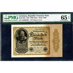 Reichsbankdirektorium. 1922. Issued Note.
