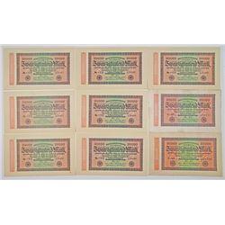 Reichsbankdirektorium. 1923-1924. Lot of 27 Issued Notes.