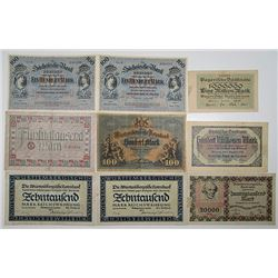 Various German Issuers. 1900-1923. Lot of 40 Issued Notes.