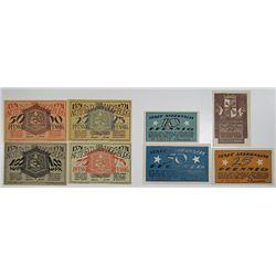 Angerburg & Andernach. 1920-1921. Notgeld lot of 8 Issued Notes.