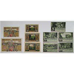 Beckum, Ballnstedt, and Benneckenstein. 1920-1921. Notgeld lot of 10 Issued Notes.