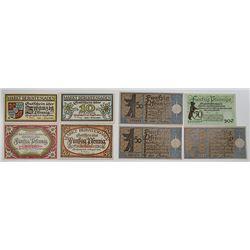 Berchtesgaden & Berlin. 1918-1921. Notgeld lot of 8 Issued Notes.