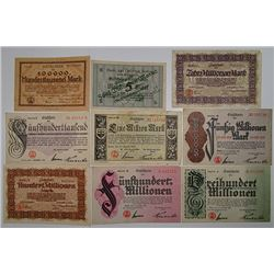 Bonn. 1923. Notgeld lot of 24 Issued Notes.