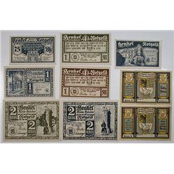 Brakel & Brake. 1921. Notgeld lot of 9 Issued Notes.