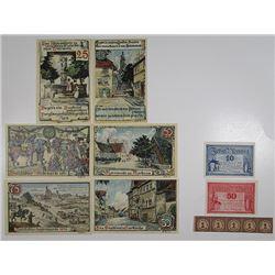 Bunzlau & ButtstŠdt. 1920. Notgeld lot of 13 Issued Notes.