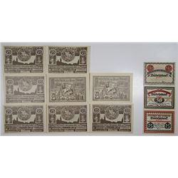 BŸrgel & BŸdelsdorf. 1921. Notgeld lot of 11 Issued Notes.