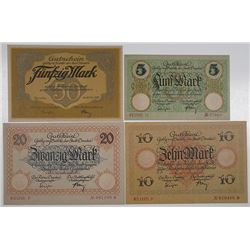 Dresden. 1918. Notgeld Lot of 4 Issued Notes.