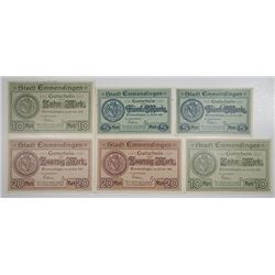 Emmendingen. 1918. Notgeld lot of 6 Issued Notes.