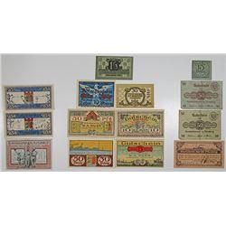 Flensburg. 1920-1921. Notgeld lot of 14 Issued Notes.