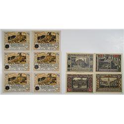 Frankenhausen am Kyff & Forst. 1921. Notgeld lot of 10 Issued Notes.