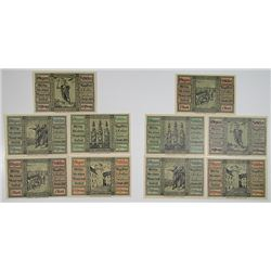 Glogau . 1920. Notgeld Lot of 10 Issued Notes.