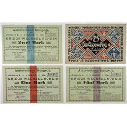 Mengede and Bielefeld. 1914 Trio & 1923 Silk Notgeld.