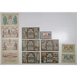 Rothenburg ob der Tauber & Rštha. 1921. Notgeld Lot of 12 Issued Notes.