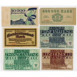 Siegburg Notgeld Issues. 1922-1923.  Assortment.