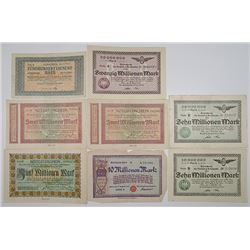 Various Notgeld Issuers in Kšln (Cologne). 1923. Notgeld lot of 8 Issued Notes.