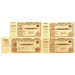 Guyana Post Office Corporation. ND (ca. 1950s-1960s). Quartet of Unused Postal Orders.