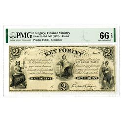 Finance Ministry. ND (1852). High Grade Issued Remainder Banknote.