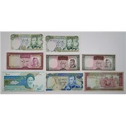 Central Bank of Iran. 1960s-2000s. Lot of 15 Issued Notes.