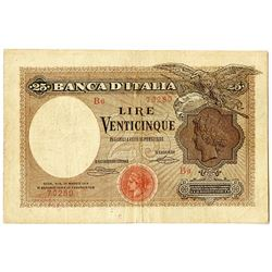 Banca d'Italia. 1919. Issued Note.