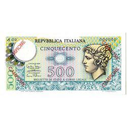Repubblica Italiana. 1974. Specimen Note.