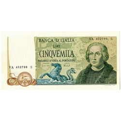 Banca d'Italia. 1971. Issued Note.