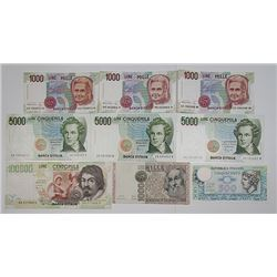 Banca d'Italia. 1969-1990s. Lot of 25 Issued Notes.