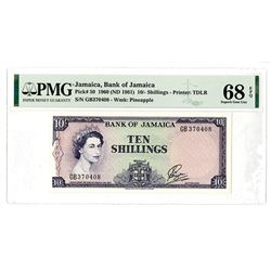 Bank of Jamaica. 1960 (ND 1961). Issued Banknote.