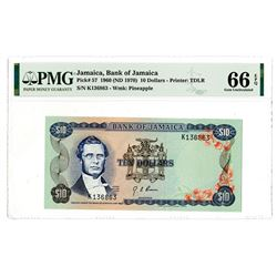 Bank of Jamaica. 1960 (ND 1970). Issued Banknote.