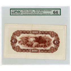 Tesoreria General del Estado Libre y Soberano de Sonora, 188x (1881) Proof Banknote