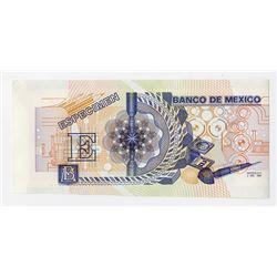Banco De Mexico, 1989 DuraNote Advertising Polymer Note.