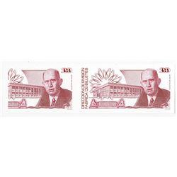 Banco De Mexico, Direccion De Emision Fabrica De Billetes, ca.1989 DuraNote Polymer Sample Note.