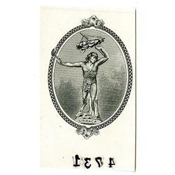 """Republica de Panama, 1941 """"Arias"""" Issue Proof Vignette of Urraca used on 5 Balbao Note."""