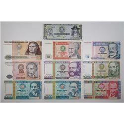 Banco Central de Reserva del Peru. 1917-1988. Lot of 21 Issued Notes.
