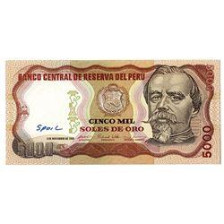 """Banco Central de Reserva del Peru. 1981. """"SPOIL"""" Specimen Note ."""
