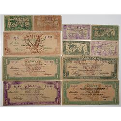 Cagayan Province. ND (1942). Lot of 11 Issued Notes.