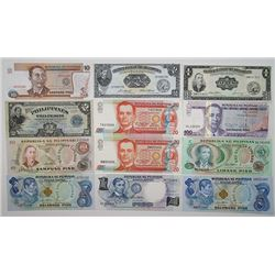 Central Bank of the Philippines & Other Issuers. 1917-2007. Lot of 22 Issued Notes.